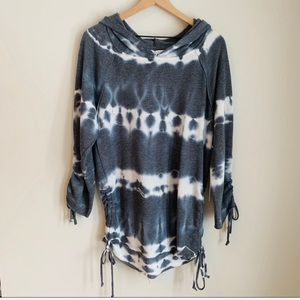 NWT Young Fabulous and Broke Tie Dye Grey Hoodie